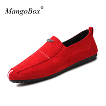 2017 New Trend Mens Casual Loafers Breathable Men's Sneakers Casual Shoes Fashion Flats Shoes Men Black Red Mens Canvas Footwear