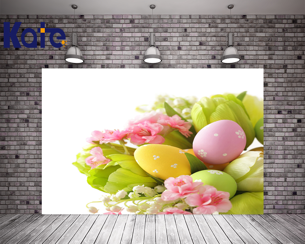 3M*3M(10*10Ft) Easter Photography Backdrops Tulip Eggs Green Leaves Photography Backdrop Easter Sunday Zj<br>