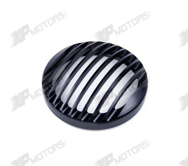 Black 5 3/4 Headlight Grill Cover For Harley Davidson SPORTSTER XL 1200 2004 2005 2006 2007 2008 2009 2010 2011 2012 2013 2014<br>