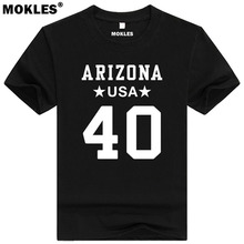 PAT TILLMAN 40 arizona custom made name number t shirt fremont california t-shirt diy usa america patrick daniel black clothing(China)