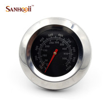 High Quality Stainless Steel 50-500 Celsius Degree Bimetal Thermometer Gauge For Roast Barbecue BBQ(China)