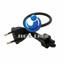 European 2pin Male Plug to IEC 320 C5 Micky Adapter Cable For Notebook Power Supply,EU Power Adaptor Cord,50 PCS,30CM(China)