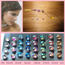 buy cap will get a Gift Popular Hair Extension Jewelry Hair Accessories Bling Same Color in One Pack 8 Optional color 1pack(China)