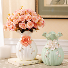 european modern fashion Handmade tabletop Ceramic Flower Vase Decorative Vases home decoration modern or wedding decoration vase