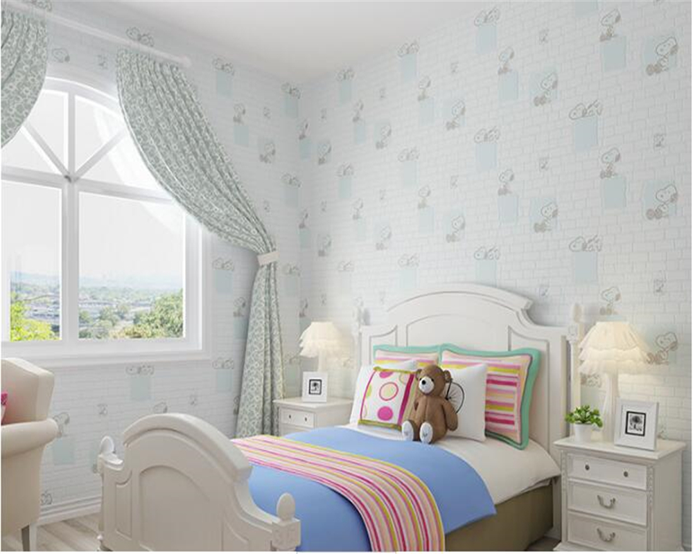 beibehang Childrens nonwoven wallpaper bedroom boys girls room clothing store hotels fashion simple papel de parede wall paper<br>