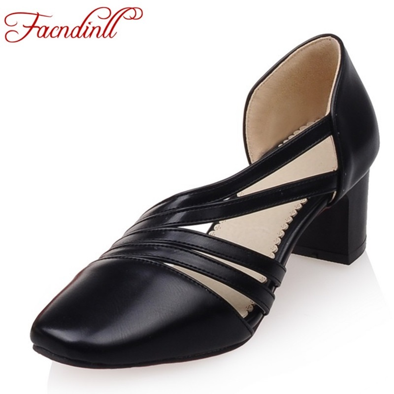 plus size 34-47 square toe pu leather thick high heels fashion high heels shoes women pumps casual office dress shoes woman<br><br>Aliexpress