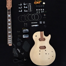In Stock -2017 Unfinished Electric Guitar Kit With Flamed Maple Top DIY guitar Solid mahogany body For LP Style