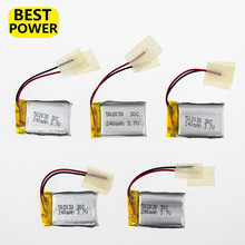 5 pcs/lot  Battery 3.7V LiPo 240mAh 30C Drone Batteria Rechargeable For Syma S107 S108 S109 S026 6020 RC Helicopter Airplane