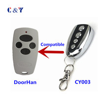 Russia Market Auto Door Replacment 4 Buttons Doorhan wireless remote control YET003 with Battery(China)