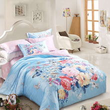 BEIYAYAN Wholesale High Quality Home Bedding Sets 4pcs Jacquard Printing Bedlinen Bedclothes Duvet Cover Bed Sheet Pillowcase