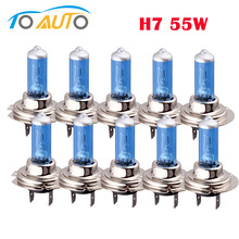 lamp h7 bulb 6000k 55w 10pcs car lights cars Fog halogen Bulb white light lamp 12V car-styling