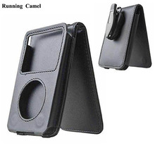 Running Camel Leather Case for Apple iPod Classic 80GB 120GB 160GB With Belt Clip(China)