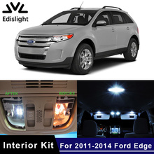 Edislight 15Pcs White Ice Blue Canbus LED Lamp Car Bulbs Interior Package Kit For 2011-2014 Ford Edge Map Dome Door Plate Light(China)