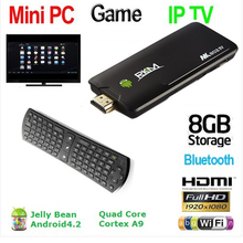 Original Rikomagic Tv Box MK802 IV Quad Core Android TV Box RK3188 2GB RAM 8GB ROM Bluetooth WIFI HDMI+Rii i24 Air Mouse(China)