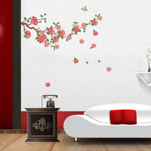 New Fashion! Removable Vinyl Wall Sticker Flowers TV &Sofa Background Wall Home Decoration Mural Wallpaper,50cm*70cm