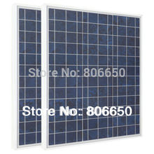 *80W- 2pcs 40W 12V Poly Polycrystalline Solar Panel 12V for Charge 12V battery free shipping