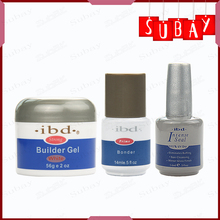 Total 3pcs(1pcs Clear IBD Strong Builder UV Gel +1pcs Bonder Primer Prime Base UV Gel+1pcs IBD Nail topcoat Intense Seal Glue)