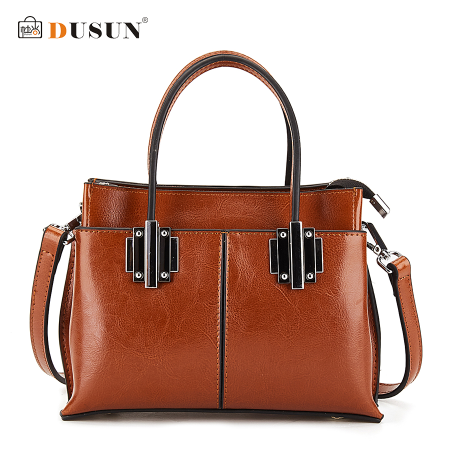 DUSUN Brand Women Classic Style Handbag Genuine Leather Multi Pocket Messenger Bag 4 Colors Woman Fashion Travel Shoulder Bag<br>