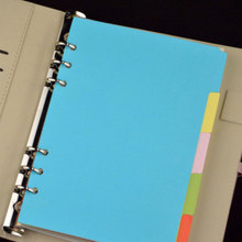 5Pcs/set A5 A6 Notebook Dokibook Planner Accessories Colorful Dividers Inner Page Filler Papers For Filofax Agenda