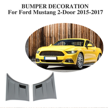 2pcs/set PP Grey Front Side Fender Air Flow Vents Trim Kits for Ford Mustang 2015-2017 3D Style(China)