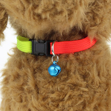3 PCS Rainbow Color Pet Dog Cat Collar with Bells 1cm Width Adjustable 24-34cm Length for Small Dog Nylon collars Holiday Beauty
