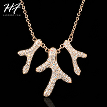 Top Quality N261 Coral Reef Crystal Rose Gold Color Pendant Necklace Jewelry Austrian Crystal  Wholesale