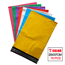 2017 New  PE Colors Mailing Self-seal Envelopes Poly Mailer Bag Pink Green Red Yellow Blue White Purple Express bag 7 colors
