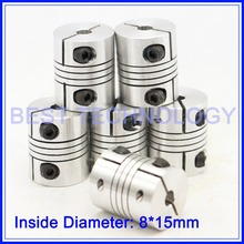 6pcs/ lot CNC Stepper motor shaft connector 8X15mm flexible Coupling Connector Diameter 30mm Length 35mm Clamping coupler(China)