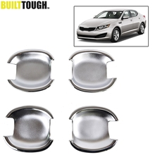 Accessories FIT FOR 2011 2012 2013 KIA OPTIMA K5 CHROME SIDE DOOR BOWL INSERT CAVITY COVER TRIM MOULDING CUP