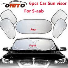 6pcs/set Car sun visor sunscreen insulation curtain block light Front/Rear shade anti UV windshield window for 9-3 9-5 93 95 BJ