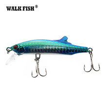 Walk Fish 1Pcs 9cm 26g Fishing Lures Assorted Colors Minnow Crank Tungsten Weight System Hot Model Crank Bait 5 colors(China)