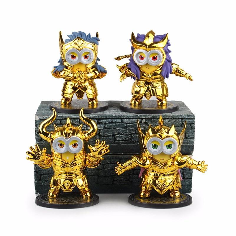 8Styles Minions Cosplay Saint Seiya Constellation New Model 10cm Action Figure Toys<br><br>Aliexpress