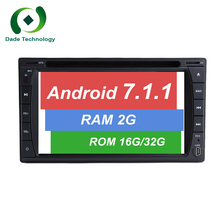 RAM 2G 2Din quad core Android 7.1 Car Radio 2 din Universal car multimedia dvd GPS Navigation Stereo Audio Player 3G/4G WIFI BT