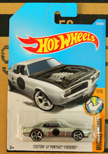 New Arrivals 2018 8a Hot Wheels 1:64 custom 67th pontiac firebird Car Models Collection Kids Toys Vehicle For Children hot cars(China)