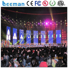 Leeman Sinosky 2015 new products on market Shenzhen SMD indoor /p10 outdoor DIP flexible led curtain display screen soft cloth