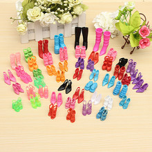 60 Pairs Trendy Mix Assorted Doll Shoes Multiple Styles Heels Sandals For Barbie Dolls Free Shipping