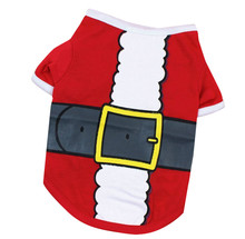 Dog Clothes Polyester Dog Christmas Cute T Shirt Pet Clothes Apparel Vests Costumes Clothing Honden Kleding Clothes for Dogs