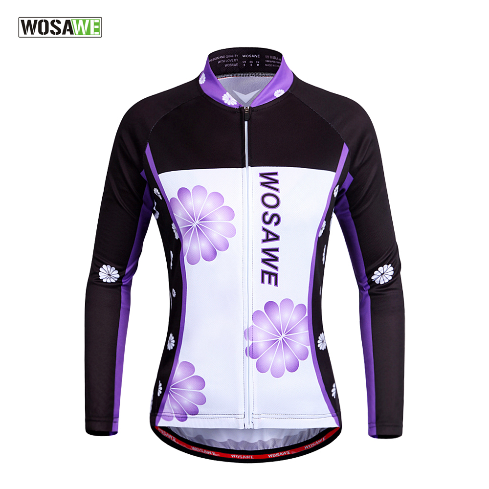 WOSAWE Quick Dry Long sleeve Womens Cycling Jerseys Bike sports maillot ciclismo breathable MTB Cycling Clothing<br><br>Aliexpress