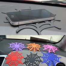 Car Non Slip Mat Silicone Grip Pad Sticky Spider Web Anti Skid Dash Sheet Cell Phone Holder Key Sunglasses Clip Accessories