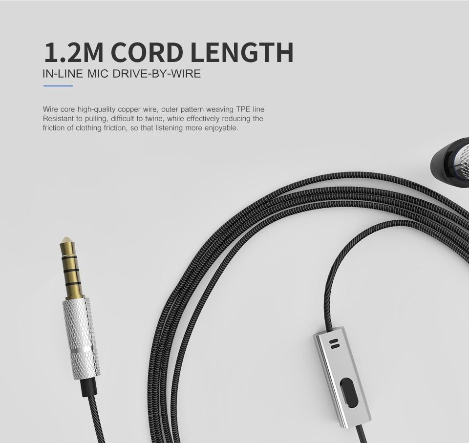 Es 660i Mini Earphone With Microphone Metal Headset Hifi Fone De ...