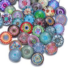50pcs/lot Series KZHM Many Themes Styles Mixed Pattern Multi Color 18mm Glass Snap Button For DIY Snaps Jewelry