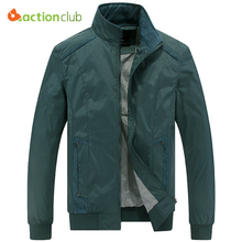 ACTIONCLUB Mens Spring Autumn Jacket Plus Size Casual Coat New Fall Men Fashion Comfortable Spring Style Jacket Collar Outerwear(China)