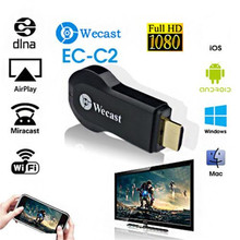 WECAST Airplay 1080P Wireless WiFi Display TV Dongle Receiver HDMI TV Stick DLNA Miracast for Android IOS MAC Windows(China)