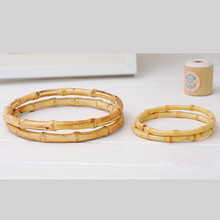Bamboo Bag  Handle DIY Accessories China Factory Size 18 cm bamboo purse handle hand ring cheap fashion Bamboo Handle