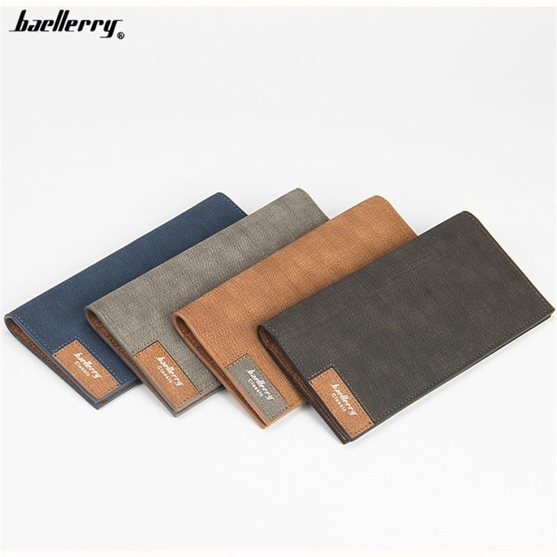 Men Wallets Brand Baellerry Long Slim Wallet Credit Card Holder Money Dollar Bag Purse Vintage Leather Clutch Carteira Masculina<br><br>Aliexpress