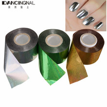 Professional 3 Color Nail Art Foil Stickers Fashion DIY Starry Sky Decals Decoration For Manicure Tools 4CM*110-120M/Roll