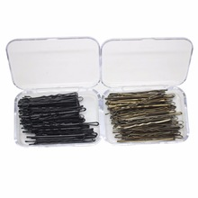 60 Pcs/box Black /Brown daily use bobby pins classic simplicity hair clips for girl /women hair accessories wholesale