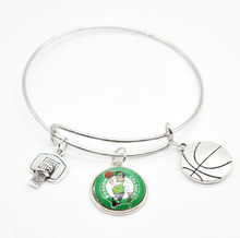 2017 New Basketball Charm Boston Bracelets&Bangle for Women Super Bowl Fans Jewelry(China)