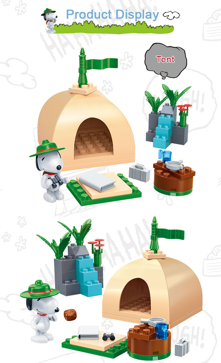 BanBao 7517 Snoopy Tent Plastic Building Blocks 23