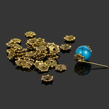 300pcs Tibetan Ancient Gold Plated Flower Metal Bead Caps 7mm Filigree Jewelry Findings Connector Beads Cap Diy Jewelry Parts